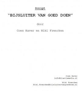 """script """"De Bijsluiter van Goed Doen"""""""